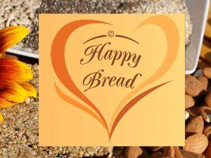 gopika-yoga-in-schwaebisch-hall - auf dem Bild sieht man das Logo von Happy Bread und verschiedene Körnern, Mandeln und Samen